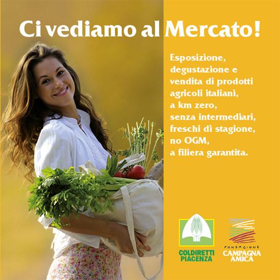 Locandina Coldiretti Piacenza - Agrimercato