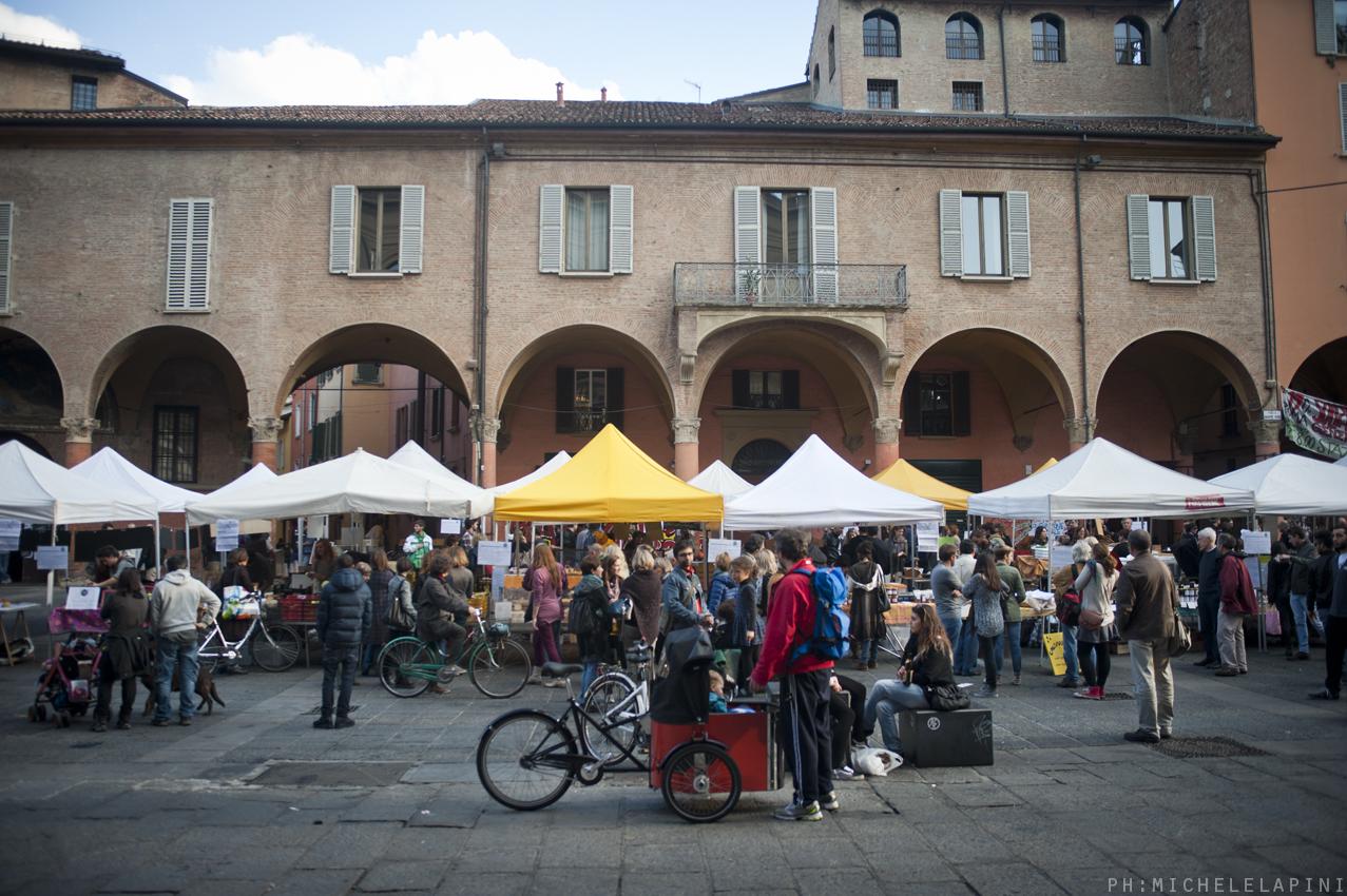 Il mercato contadino di Campi Aperti a Bologna
