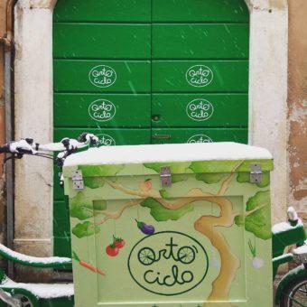 Ortociclo cargobike sotto la neve