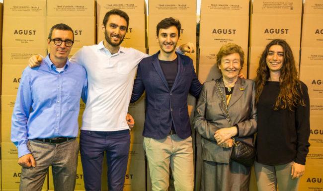Le tre generazioni della famiglia Corsini di Caffè Agust