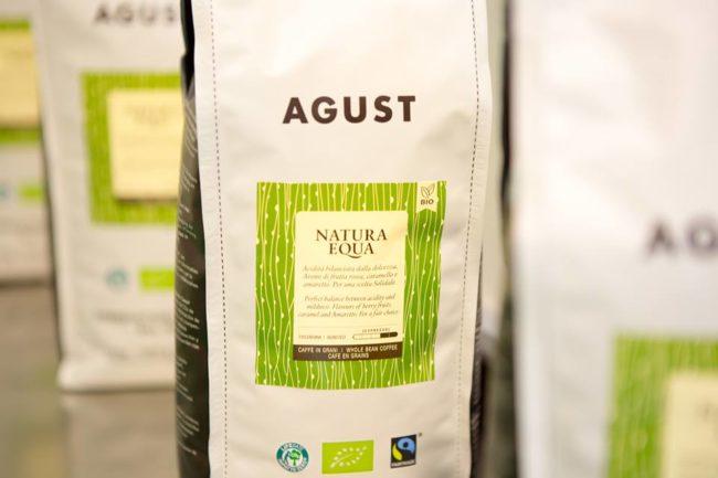 Caffè biologico equo e solidale Natura Equa di Agust, torrefatto a Brescia.