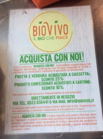 BioVivo, Negozio biologico a Piacenza: Sconto per gli acquisti in cassetta o a cartone