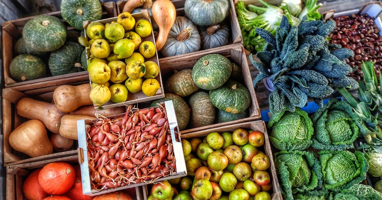 Frutta e verdura di stagione di ottobre