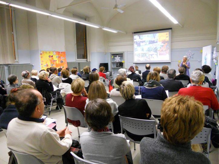 Antonella Gallino a Piacenza alla Biblioteca Passerini Landi
