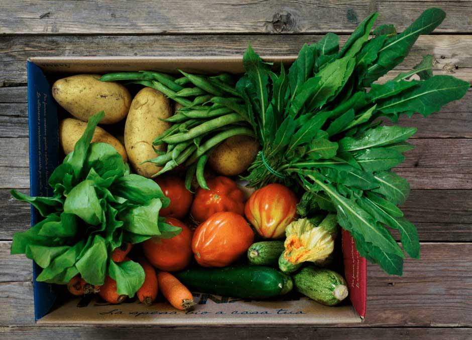 Cassetta di frutta e verdura genuine