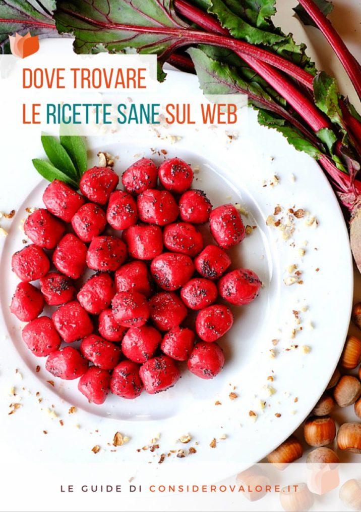 """Copertina dell'e-book """"Dove trovare le ricette sane sul web"""""""