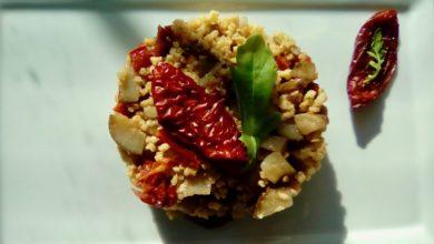 Miglio con topinambur e pomodori secchi