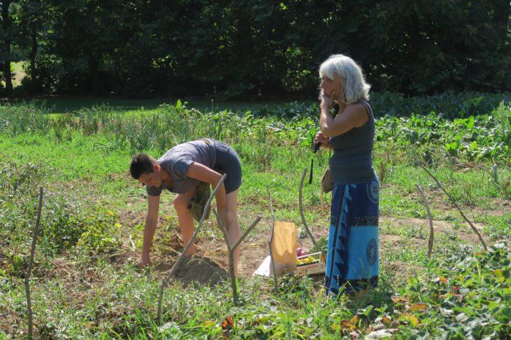 Antonella Gallino e Francesca Pachetti nel campo
