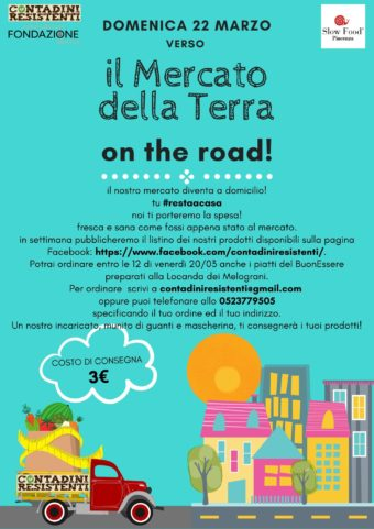 Locandina Contadini Resistenti Spesa a domicilio Piacenza e provincia