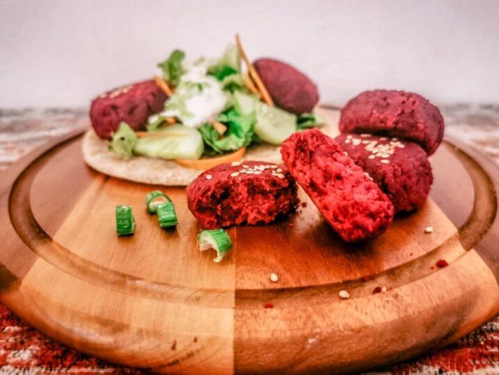 falafel di ceci e rape rosse