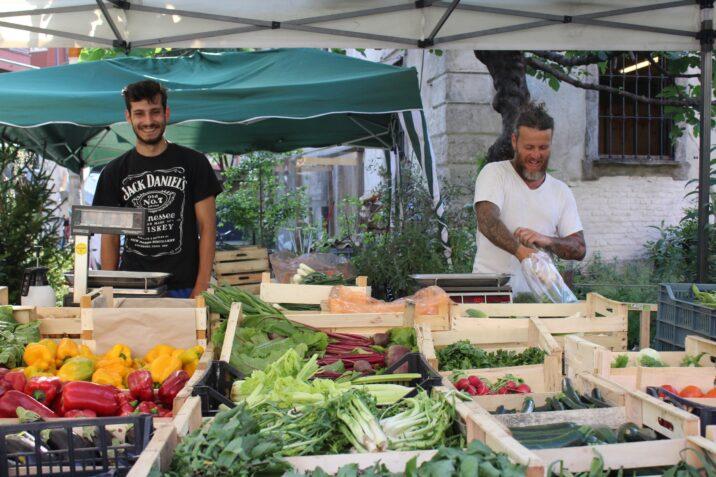 Mercato agricolo in Cascina Cuccagna