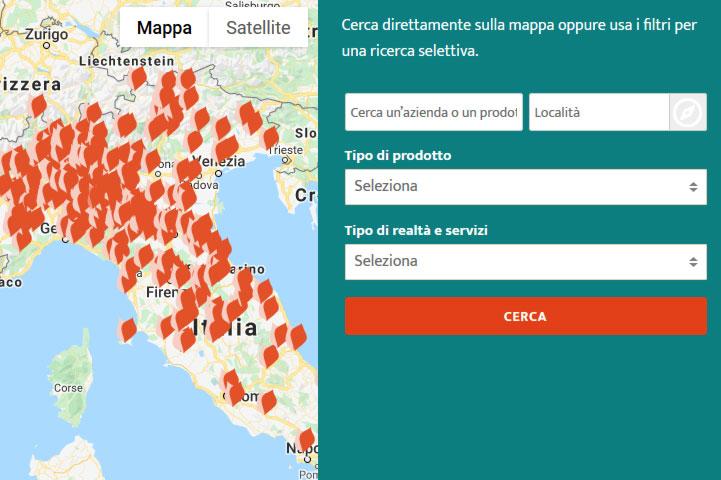 Mappa dei produttori di ConsideroValore.it